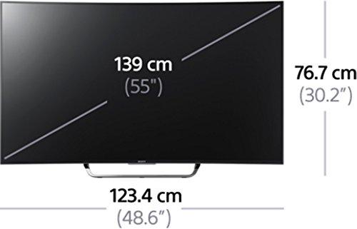 Sony KD55S8005CBAEP Maße eingezeichnet