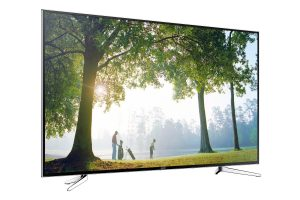 Samsung-UE75H6470 Produktbild seitlich von vorne