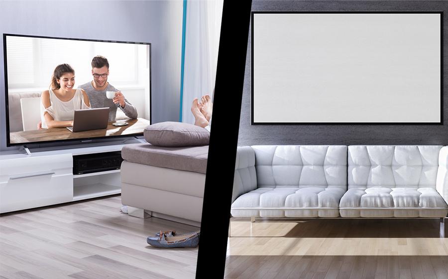 3D Fernseher vs Leinwand